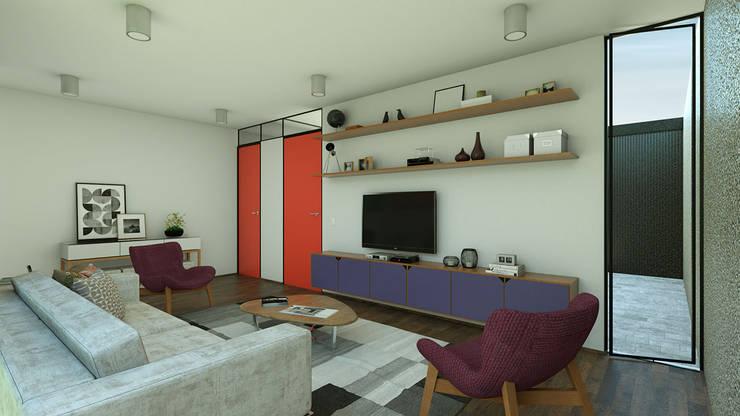 Sala de TV: Salas de estar  por ODVO Arquitetura e Urbanismo