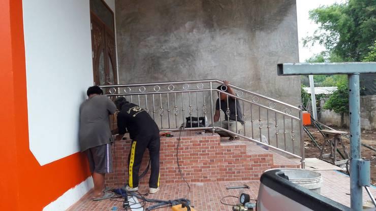 งานทาสีบ้าน คุณสิริเนตร ขัดศิริ.:   by หจก. เพชรลดา คอนสตรัคชั่น