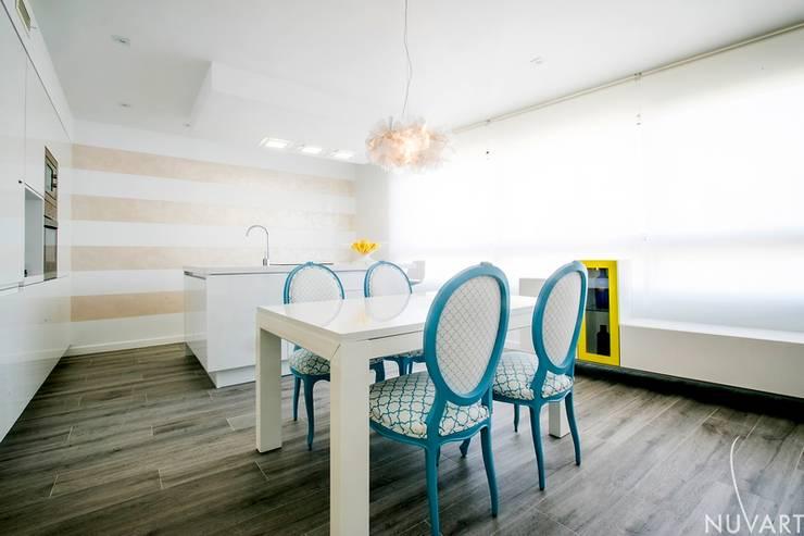 Dining room by NUVART, Mediterranean
