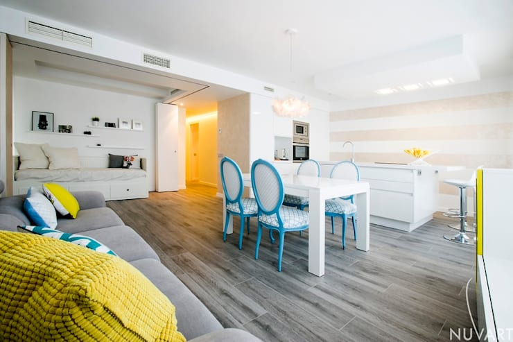 Living room by NUVART, Mediterranean