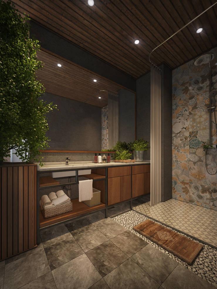 Căn hộ Galaxy 9:  Phòng tắm by BROS.studio
