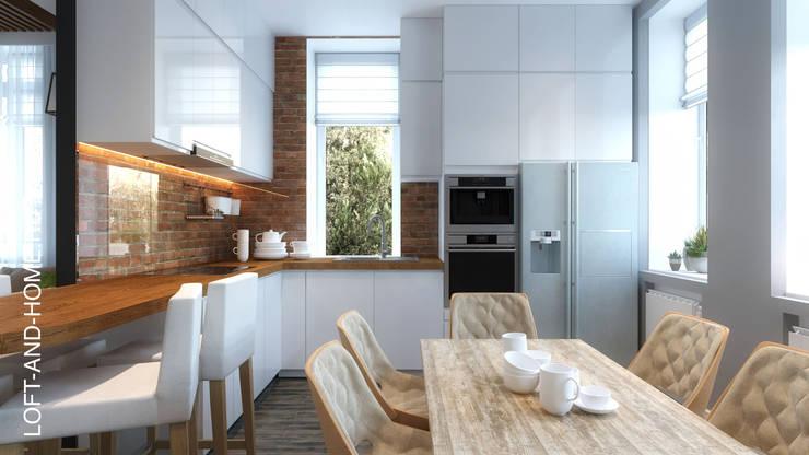 Дизайн-проект для таунхауса в КП Марсель, 120 кв. м.: Кухни в . Автор – Loft&Home