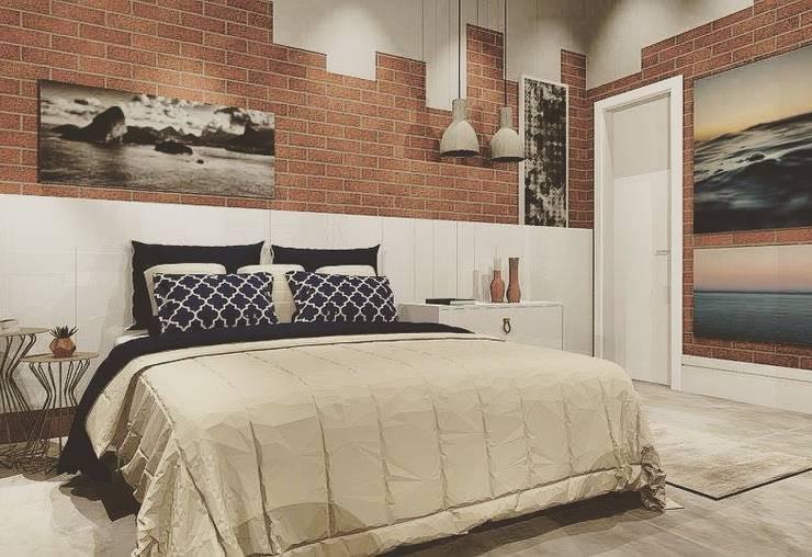 Chambre de style  par Lucio Nocito Arquitetura e Design de Interiores