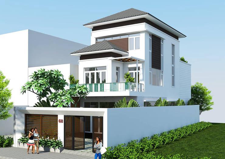 Biệt thự Anh Hà Đức Quyền:   by Công ty cổ phần kiến trúc xây dựng Võ Hữu Hiếu