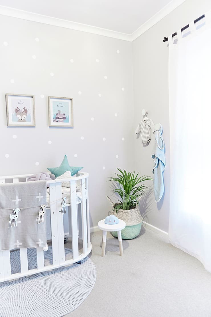 Nursery Room Makeover Featured in Living and Loving Magazine:  Baby room by The Home Collective, Scandinavian MDF
