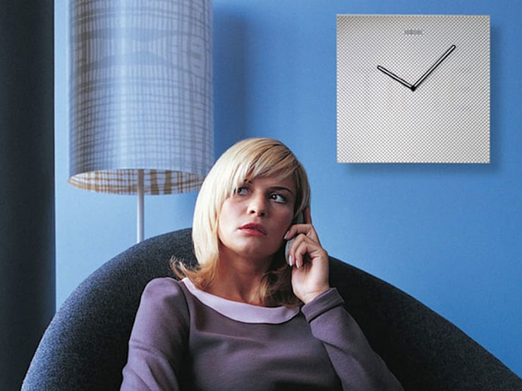 Nextime Mistery Time Wall Clock: modern  by Just For Clocks,Modern Glass