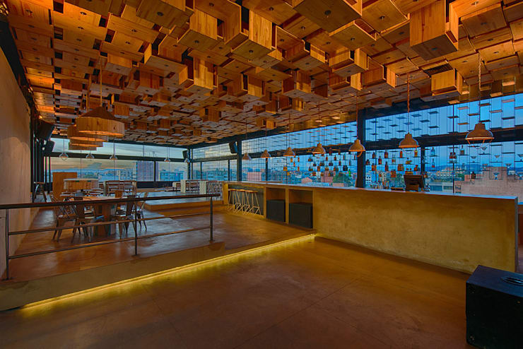BAR Salas de estilo minimalista de Martínez Arquitectura Minimalista