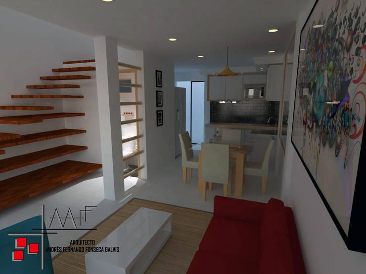 Proyecto Casa Ospina: Salas de estilo  por Arquitecto Andrés Fonseca
