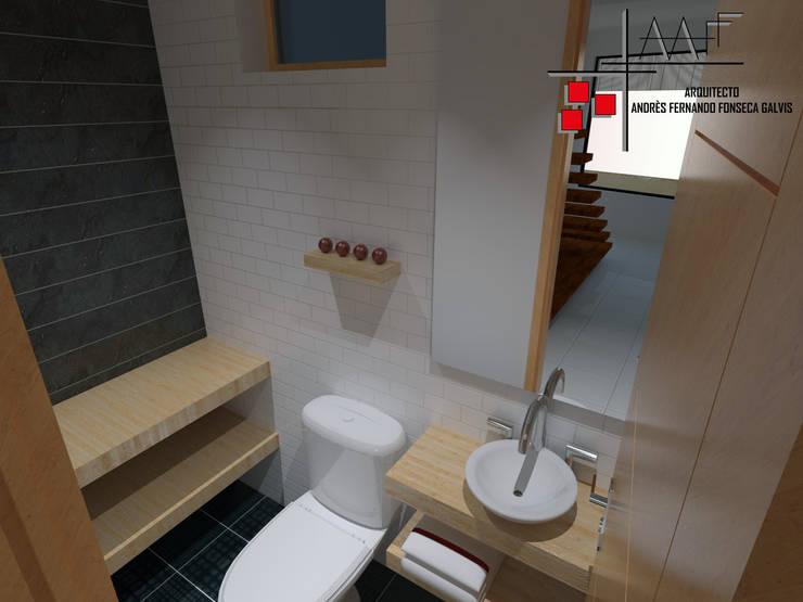 Proyecto Casa Ospina: Baños de estilo  por Arquitecto Andrés Fonseca, Moderno