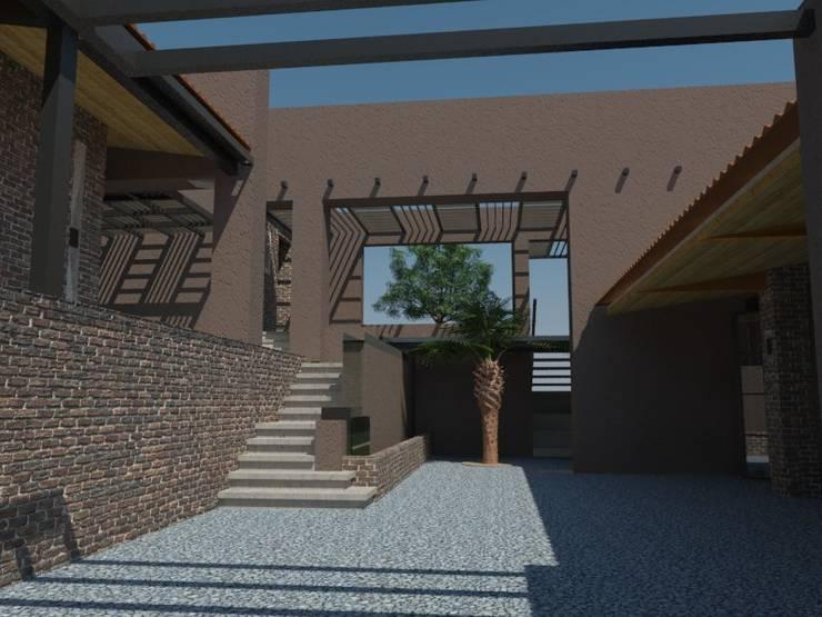 Patio de Bustos + Quintero arquitectos Rural Concreto