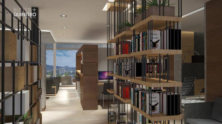 Biblioteca: Estudios y despachos de estilo  por Bustos + Quintero arquitectos