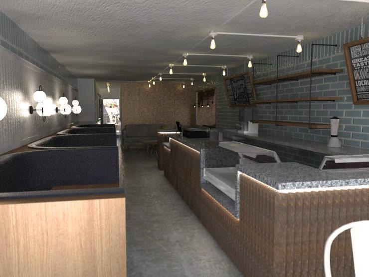 Area comedor y Barra: Comedores de estilo  por Bustos + Quintero arquitectos