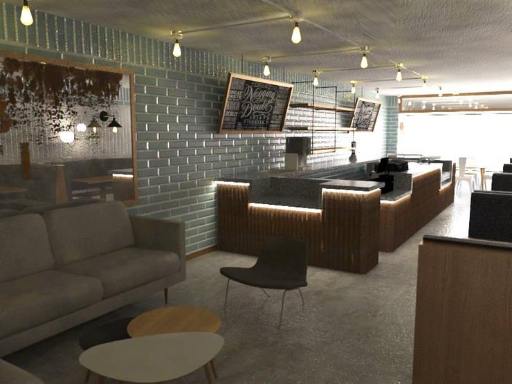 Sala Restaurante: Comedores de estilo  por Bustos + Quintero arquitectos, Ecléctico