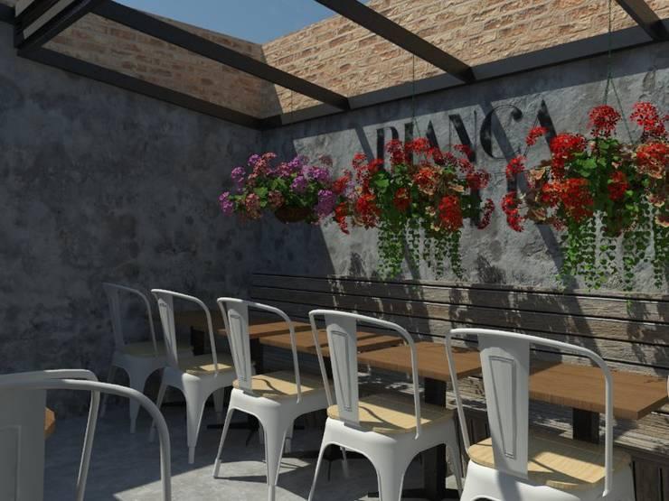 Terraza: Terrazas de estilo  por Bustos + Quintero arquitectos, Ecléctico