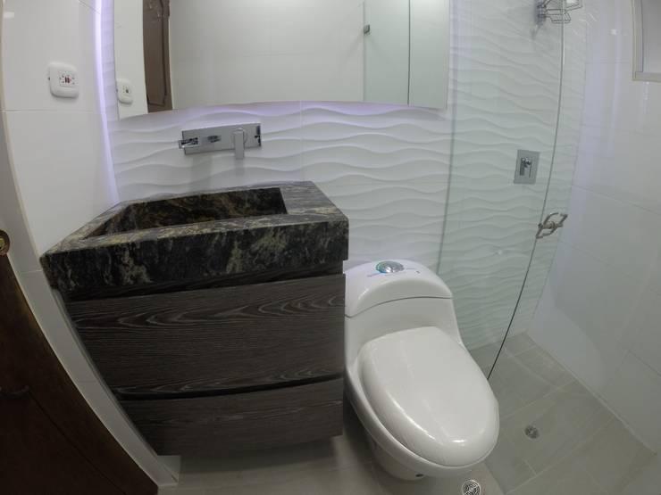 Mueble de baño 2: Baños de estilo  por MODE ARQUITECTOS SAS