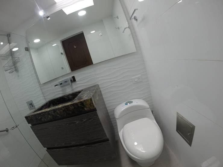 Mueble de baño 1: Baños de estilo  por MODE ARQUITECTOS SAS