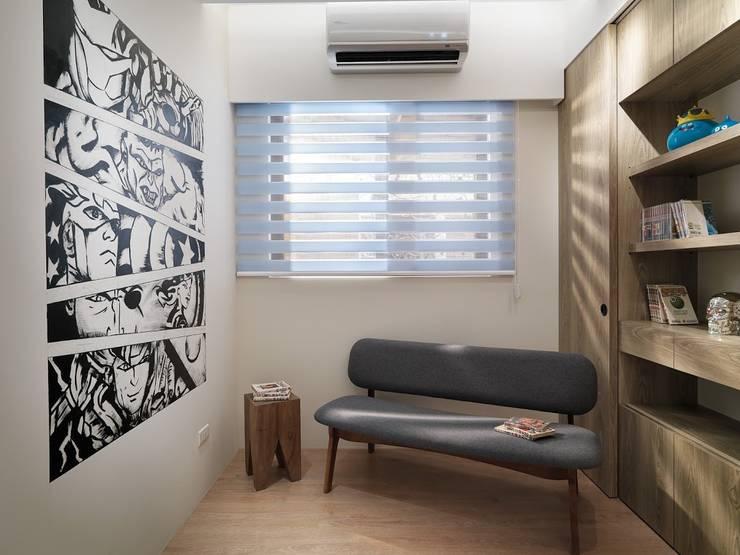 復仇者聯盟壁畫牆:  書房/辦公室 by 木皆空間設計