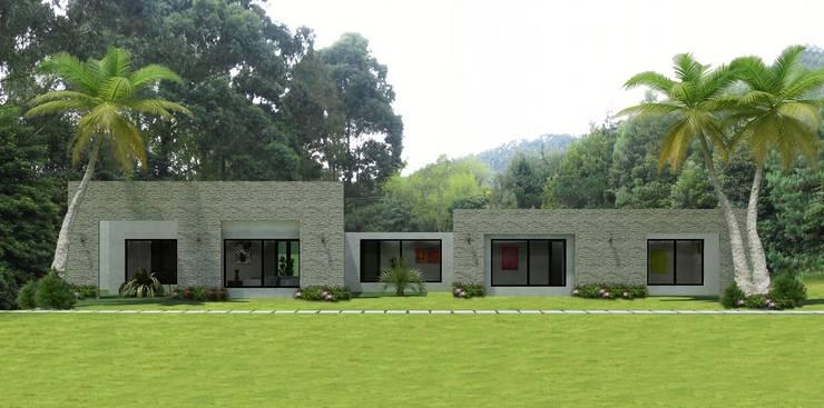 Casas Campestres : Jardines de estilo  por Arquitectos y Entorno S.A.S, Moderno