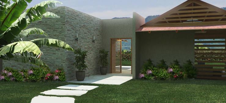 Casas Campestres: Jardines de estilo  por Arquitectos y Entorno S.A.S