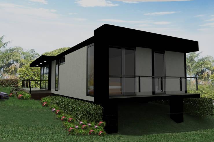 Casas Campestres : Casas de estilo  por Arquitectos y Entorno S.A.S, Moderno