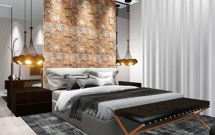 Dormitorios de estilo  por Trivisio Consultoria e Projetos em 3D