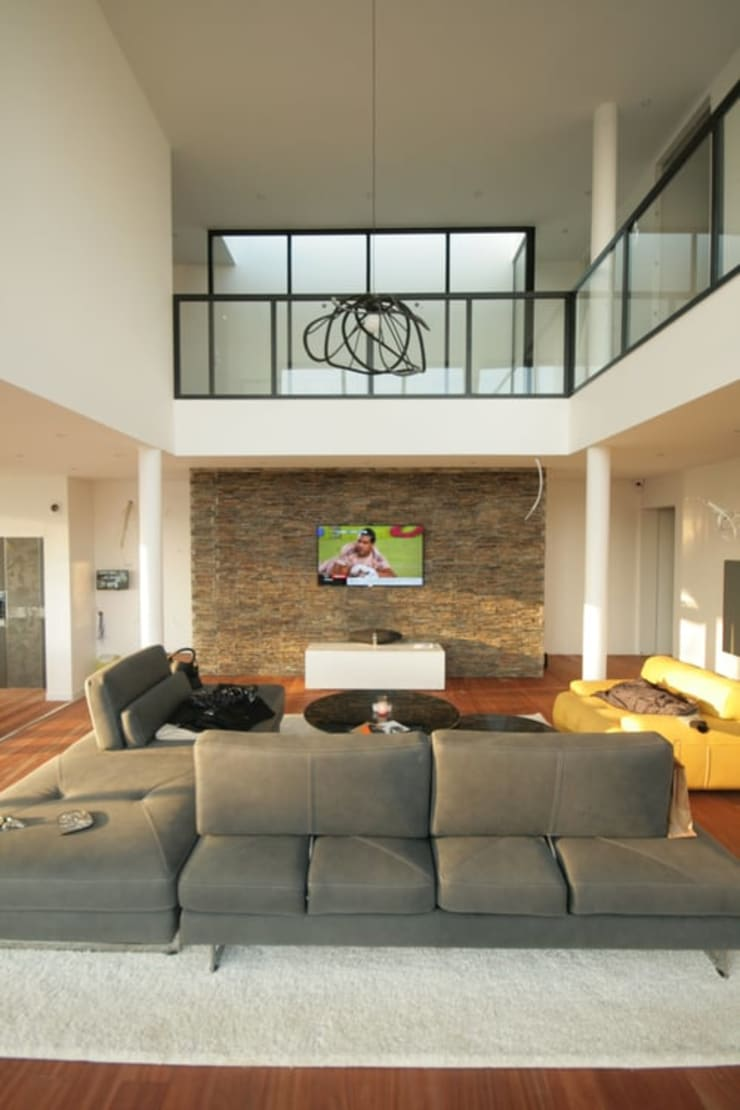 Modern Living Room by Rusticasa Modern Wood Wood effect
