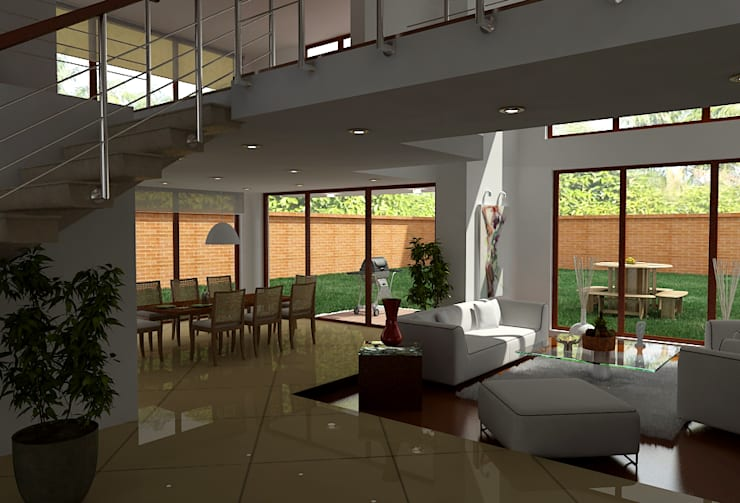 Casas Campestres : Comedores de estilo  por Arquitectos y Entorno S.A.S, Moderno
