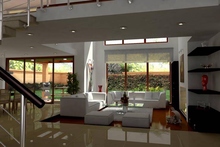 Casas Campestres : Salas de estilo  por Arquitectos y Entorno S.A.S, Moderno