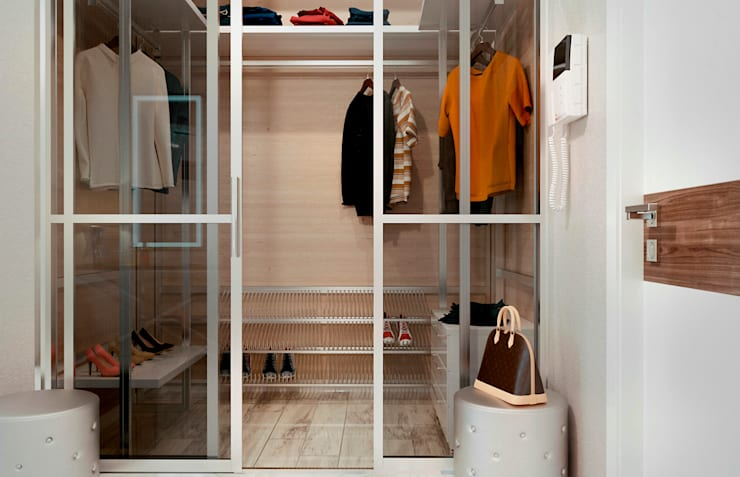 Phòng thay đồ by Студия NATALYA SOLNTSEVA Interiors Design