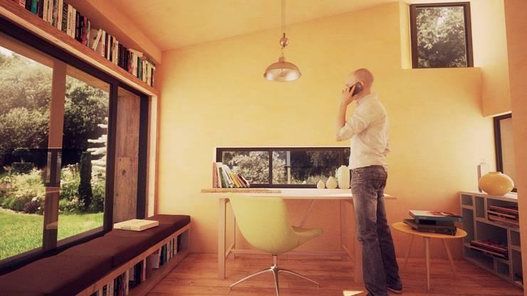 Vista Interior: Casas de madera de estilo  por Materica