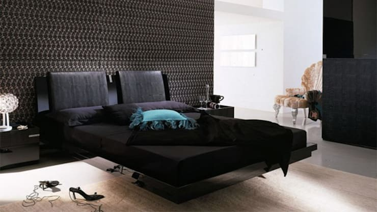 Bold Black Bedroom Trend:  Bedroom by Urban Living Designs