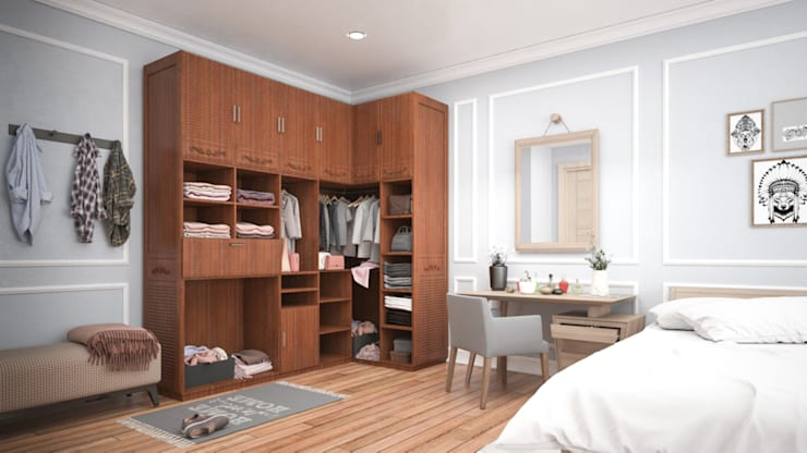Space Saving Furniture in Bedroom. :  Bedroom by Urban Living Designs