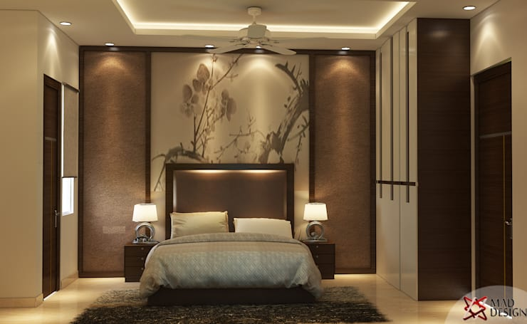 BEDROOM VIEW : modern Bedroom by MAD DESIGN