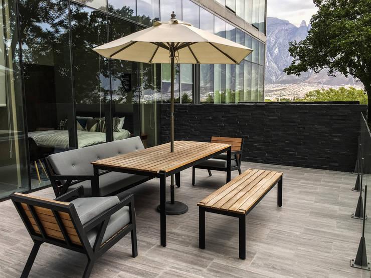 Jardín Secreto: Terrazas de estilo  por Alameda Estudio