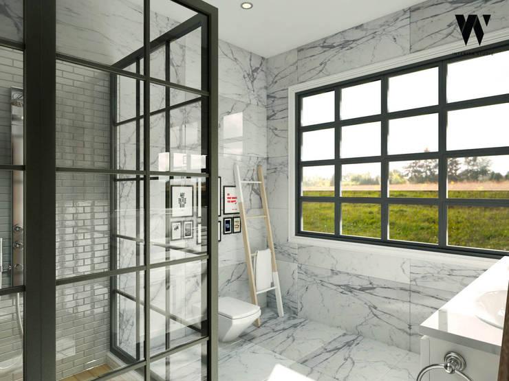 Ping House - Master Bathroom:  Kamar Mandi by w.interiorstudio