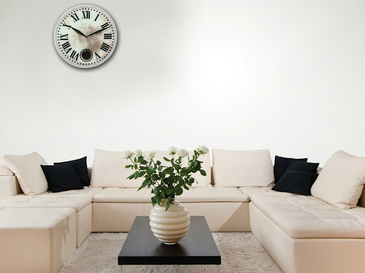 Nextime Romana Wall Clock: modern Living room by Just For Clocks