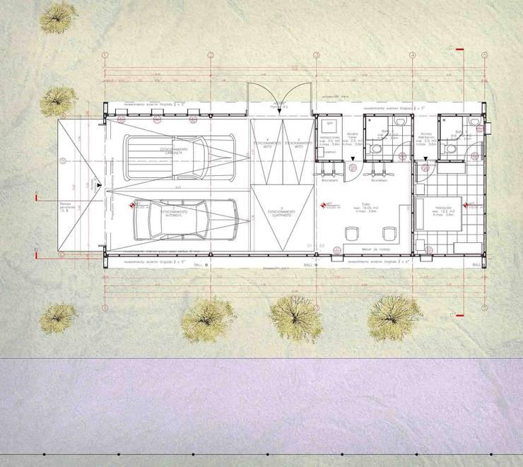 COCHERA HABITACION:  de estilo  por talca 360 arquitectos