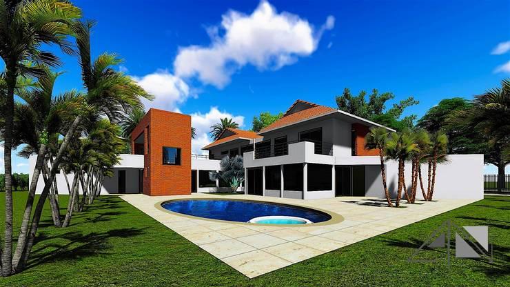 Casa Barcelona – Villavicencio:  de estilo  por ARQUITECTOnico