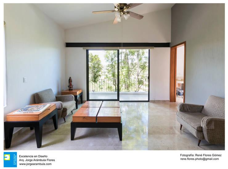 Interior: Recámaras de estilo moderno por Excelencia en Diseño
