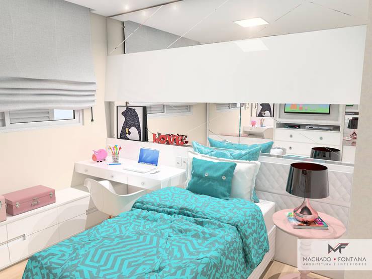 Dormitório da menina: Quarto infantil  por Machado Fontana | Arquitetura e Interiores