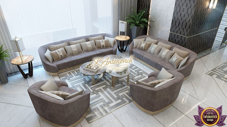 ​Perfect interior designs from Katrina Antonovich:  Living room by Luxury Antonovich Design, Modern