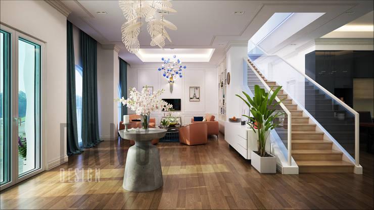 Couloir et hall d'entrée de style  par DCOR