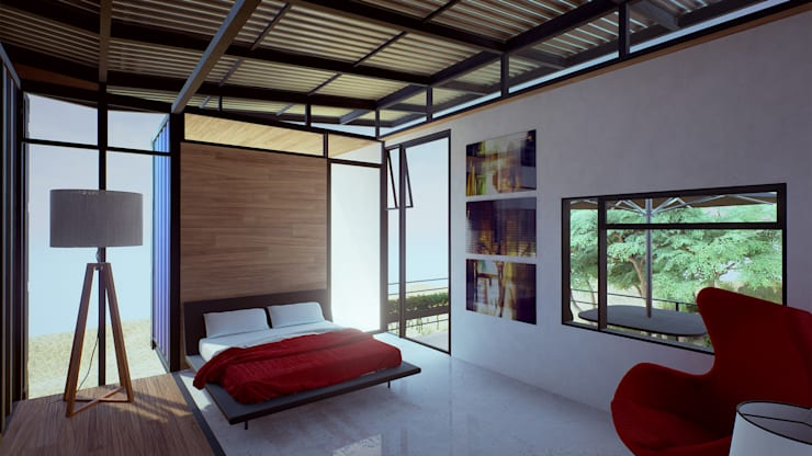 modern Bedroom by EnTRE+