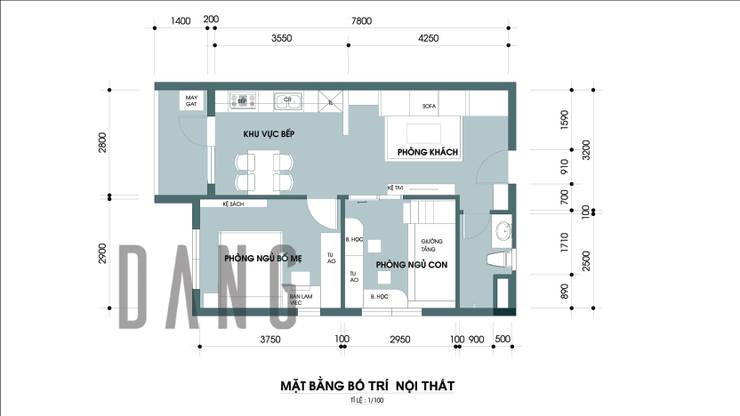 Mặt bằng:  Phòng khách by DCOR