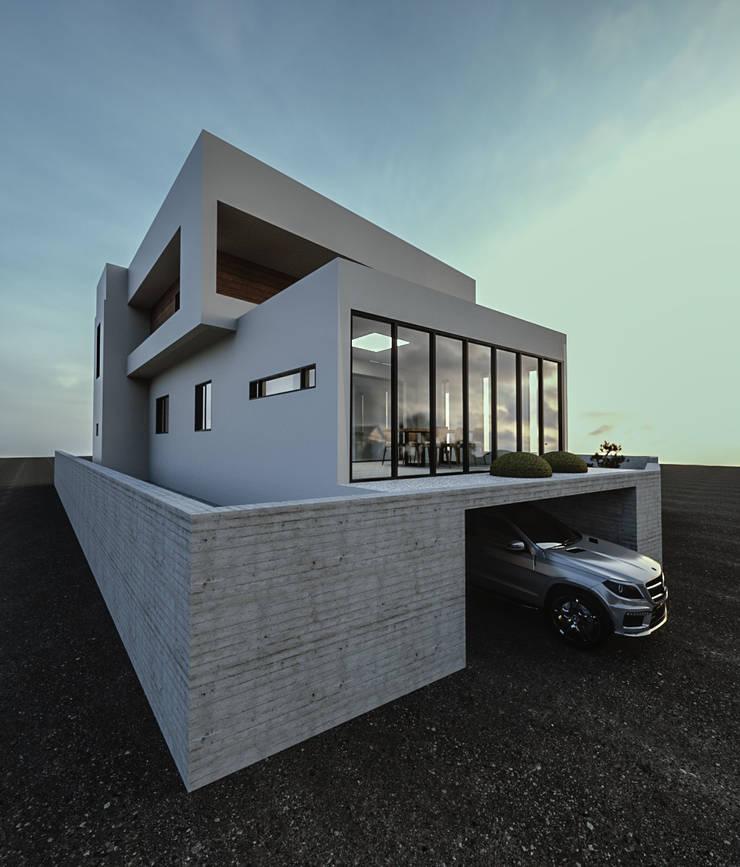 노후된 주택 리모델링 디자인-외부 파사드: 디자인 이업의  테라스 주택,