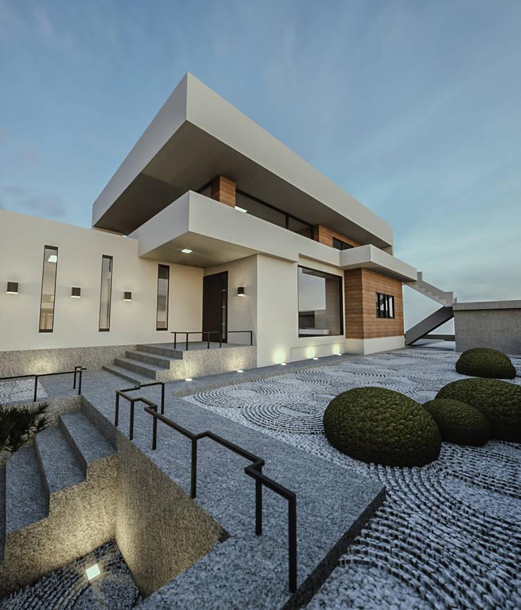 노후된 주택 리모델링 디자인-정원디자인: 디자인 이업의  젠 가든,