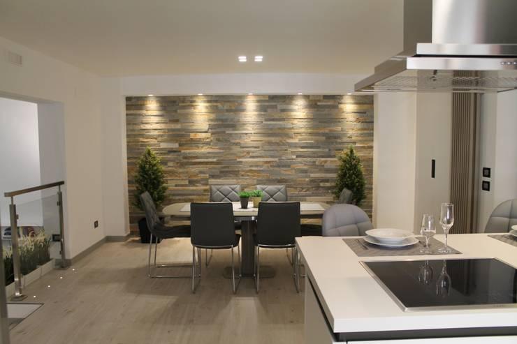 Un appartamento moderno e accattivante for Stanza da pranzo moderna