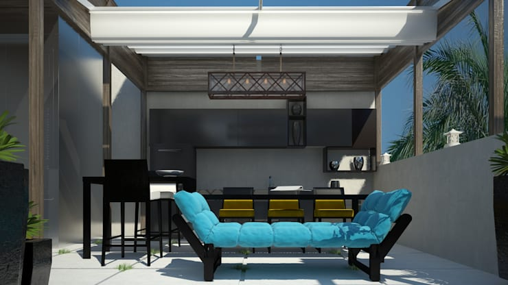 roof living room:  Living room by AL-TRASS CREATIONS DESIGN