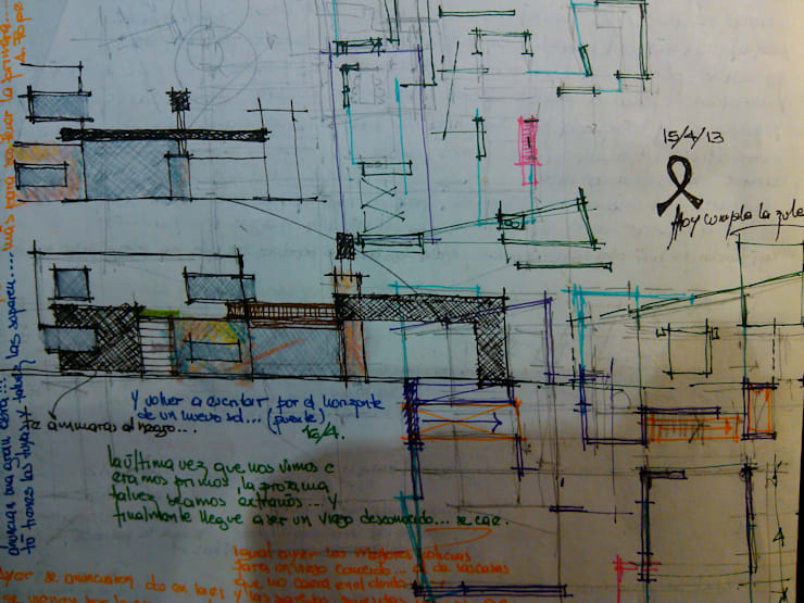Casa con los estilos mezclados… :  de estilo  por Marcelo Manzán Arquitecto