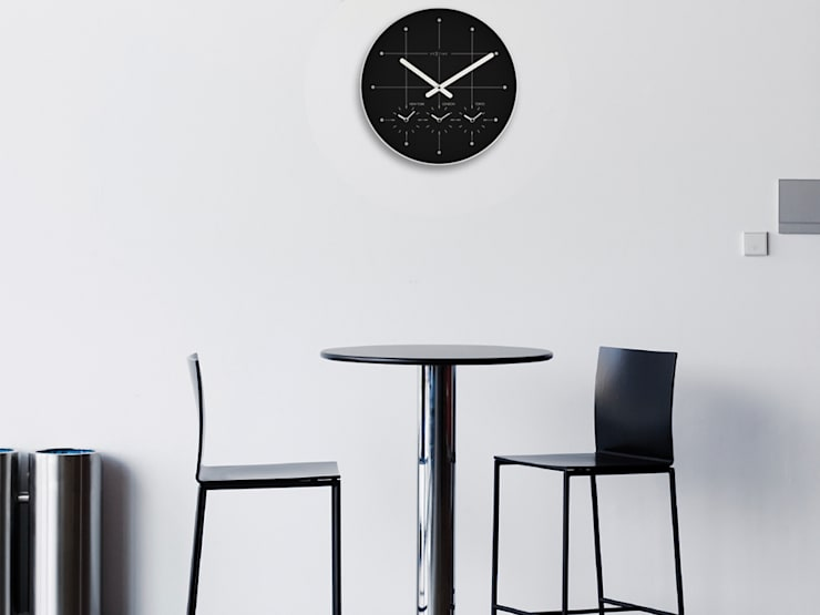 Nextime Big City Wall Clock:  Living room by Just For Clocks